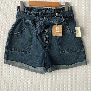 AERO paperbag short real original denim shorts